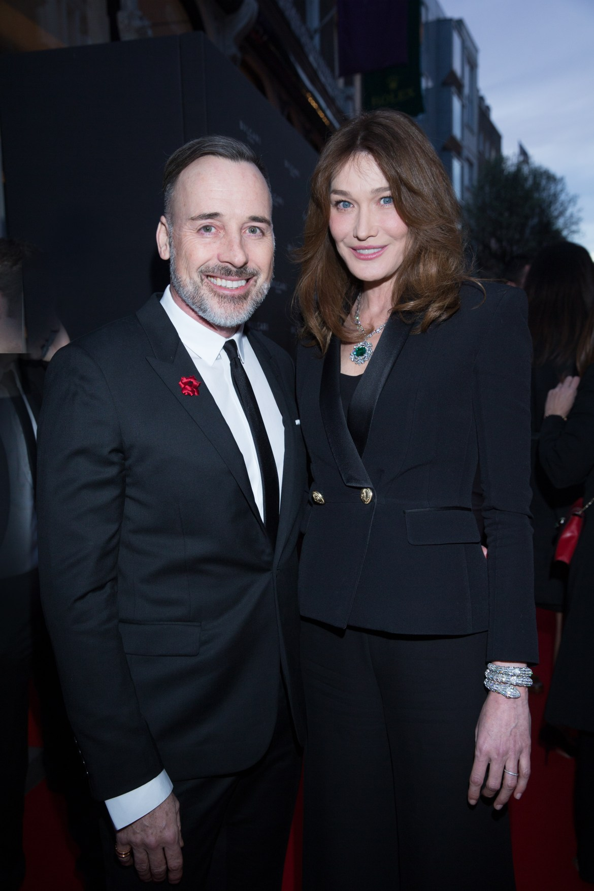 David FURNISH. Carla BRUNI-SARKOZY.. Bulgari Opening New Bond Street. London. UK. 14/3/2016 © david atlan