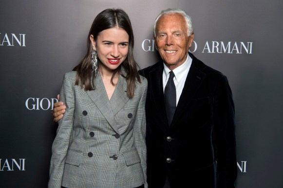 Giorgio Armani and Natasha Goldenberg