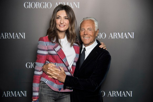 Giorgio Armani and Snezhana Georgieva