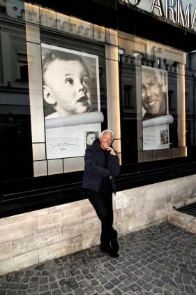 Giorgio Armani at Giorgio Armani boutique
