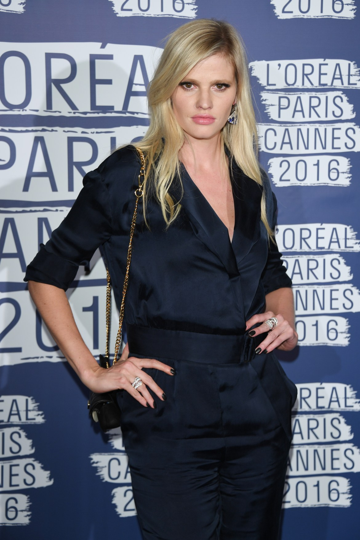 CANNES, FRANCE - MAY 18: Lara Stone attends the L'Oreal Party during the annual 69th Cannes Film Festival at on May 18, 2016 in Cannes, France. (Photo by Venturelli/WireImage)