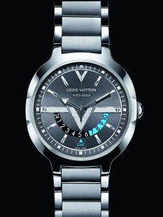 Louis Vuitton - GMT Steel Steel Anthracite Dial with background