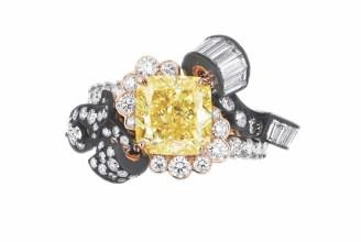 BOISERIE DIAMANT JAUNE RING