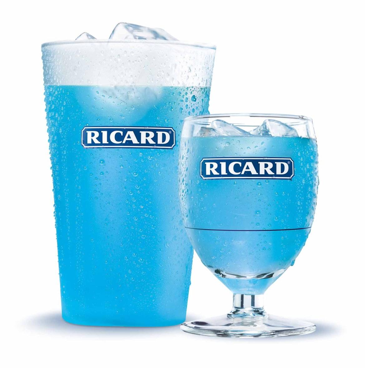 Cocktail Ricard Bleu - Allongé et Ballon HD