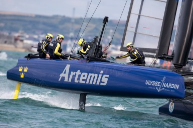 ACWS Portsmouth race day one. Artemis Racing. Saturday 25th of July, 2015, Portsmouth, UK