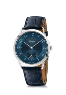 Hermes_Other new products Baselworld 2016_Slim d'Hermes_Pictures_Products_Press_Slim d'Hermes 39 manufacture_acier-steel_blue dial_indigo blue®Calitho