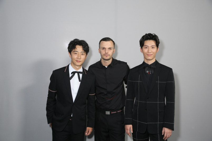 <> the Dior Homme Menswear Spring/Summer 2017 show as part of Paris Fashion Week on June 25, 2016 in Paris, France.