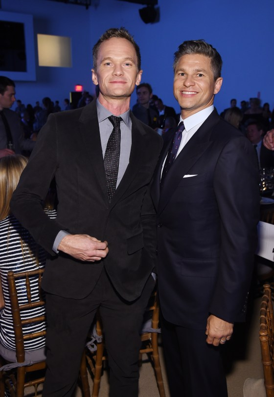 NEW YORK, NY - OCTOBER 17: David Burtka and Neil Patrick Harris attend the God's Love We Deliver Golden Heart Awards on October 17, 2016 in New York City. (Photo by Larry Busacca/Getty Images for Michael Kors)