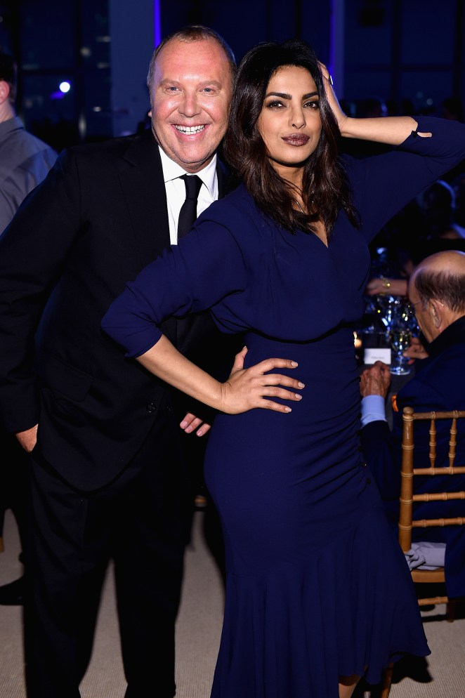 NEW YORK, NY - OCTOBER 17: Michael Kors and Priyanka Chopra attend the God's Love We Deliver Golden Heart Awards on October 17, 2016 in New York City. (Photo by Dimitrios Kambouris/Getty Images for Michael Kors)