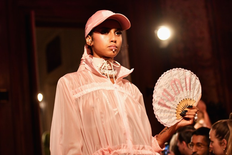 PARIS, FRANCE - SEPTEMBER 28: A model walks the runway during FENTY x PUMA by Rihanna at Hotel Salomon de Rothschild on September 28, 2016 in Paris, France. (Photo by Pascal Le Segretain/Getty Images for Fenty x Puma)