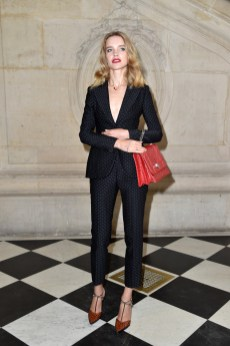 PARIS, FRANCE - SEPTEMBER 30: Natalia Vodianova attends the Christian Dior show of the Paris Fashion Week Womenswear Spring/Summer 2017 on September 30, 2016 in Paris, France. (Photo by Pascal Le Segretain/Getty Images for Dior)