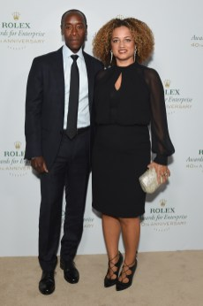 HOLLYWOOD, CA - NOVEMBER 15: Actor Don Cheadle (L) and actress Bridgid Coulter attend the 2016 Rolex Awards for Enterprise at the Dolby Theatre on November 15, 2016 in Hollywood, California. (Photo by Emma McIntyre/Getty Images for Rolex Awards for Enterprise )