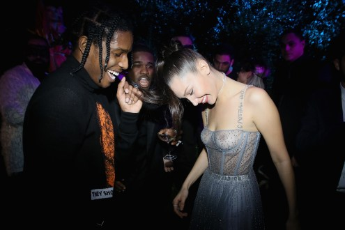PARIS, FRANCE - JANUARY 23: ASAP Rocky, ASAP Ferg, and Bella Hadid attend the Christian Dior Haute Couture Spring Summer 2017 Bal Masque as part of Paris Fashion Week on January 23, 2017 in Paris, France. (Photo by Victor Boyko/Getty Images for Dior) *** Local Caption *** ASAP Rocky; ASAP Ferg; Bella Hadid