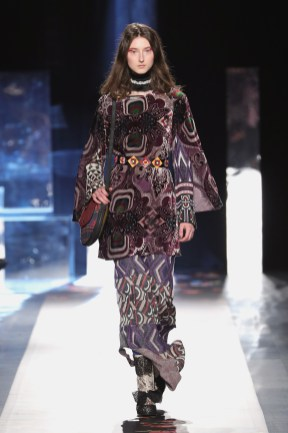 DESIGUAL_NYFW_AW17_ATWALK_LOOK 46 NEW YORK, NY - FEBRUARY 09:A model walks the runway at the Desigual show New York Fashion Week The Shows at Gallery 1, Skylight Clarkson Sq on February 9, 2017 in New York City