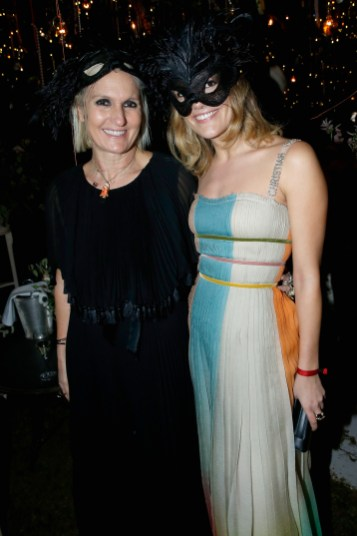 PARIS, FRANCE - JANUARY 23: Maria Grazia Chiuri and her daughter Rachel attend the Christian Dior Haute Couture Spring Summer 2017 Bal Masque as part of Paris Fashion Week on January 23, 2017 in Paris, France. (Photo by Bertrand Rindoff Petroff/Getty Images for Dior) *** Local Caption *** Maria Grazia Chiuri