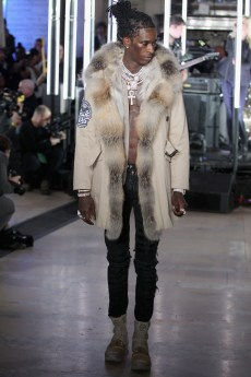 NEW YORK, NY - FEBRUARY 13: Rapper Young Thug walks the runway wearing look #39 for the Philipp Plein Fall/Winter 2017/2018 Women's And Men's Fashion Show at The New York Public Library on February 13, 2017 in New York City. (Photo by Thomas Concordia/Getty Images for Philipp Plein) *** Local Caption *** Young Thug
