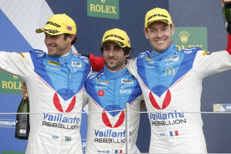 31 PROST Nicolas (fra), SENNA Bruno (bra), CANAL Julien (fra), Oreca 07 Gibson team Vaillante Rebellion, ambiance during the 2017 FIA WEC World Endurance Championship 6 Hours of Silverstone, England, from April 14 to 16 - Photo Francois Flamand / DPPI