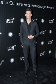 MADRID, SPAIN - MAY 04: Pierre Niney attends Montblanc de la Culture Arts Patronage Award at the Madrid Palacio Liria on May 4, 2017 in Madrid, Spain. (Photo by Carlos Alvarez/Getty Images for Montblanc)