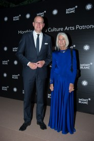 MADRID, SPAIN - MAY 04: Jens Henning Koch and Soledad Lorenzo attend Montblanc de la Culture Arts Patronage Award at the Madrid Palacio Liria on May 4, 2017 in Madrid, Spain. (Photo by Carlos Alvarez/Getty Images for Montblanc)