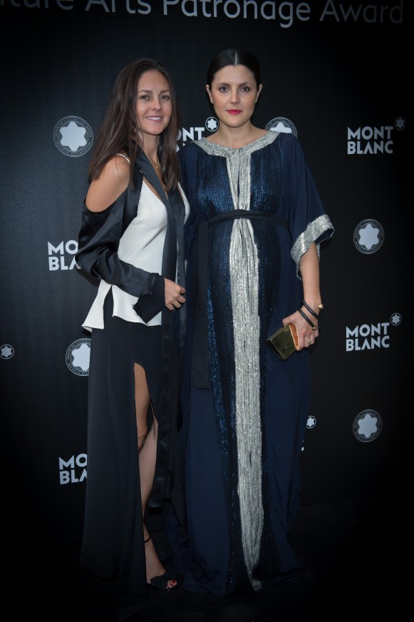 MADRID, SPAIN - MAY 04: Eugenia Gonzalez and Brenda Diaz de la Vega attend Montblanc de la Culture Arts Patronage Award at the Madrid Palacio Liria on May 4, 2017 in Madrid, Spain. (Photo by Carlos Alvarez/Getty Images for Montblanc)