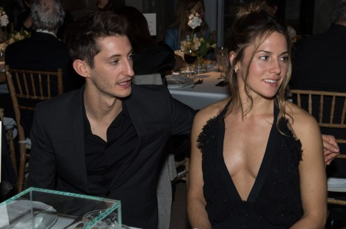MADRID, SPAIN - MAY 04: Pierre Niney and Natasha Andrews attend Montblanc de la Culture Arts Patronage Award At The Madrid Palacio Liria - Cocktail and Dinner on May 4, 2017 in Madrid, Spain. (Photo by Carlos Alvarez/Getty Images for Montblanc)