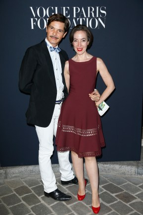 PARIS, FRANCE - JULY 04: (L-R) Elie Top and Pamela Golbin attend the Vogue Foundation Dinner during Paris Fashion Week as part of Haute Couture Fall/Winter 2017-2018 at Musee Galliera on July 4, 2017 in Paris, France. (Photo by Julien Hekimian/Getty Images for Vogue) *** Local Caption *** Elie Top;Pamela Golbin