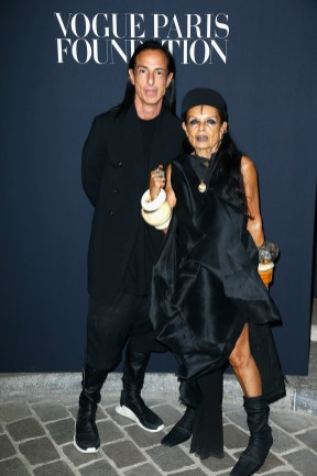 PARIS, FRANCE - JULY 04: (L-R) Rick Owens and Michele Lamy attend the Vogue Foundation Dinner during Paris Fashion Week as part of Haute Couture Fall/Winter 2017-2018 at Musee Galliera on July 4, 2017 in Paris, France. (Photo by Julien Hekimian/Getty Images for Vogue) *** Local Caption *** Rick Owens;Michele Lamy