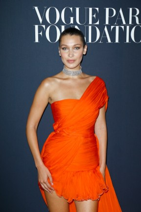 PARIS, FRANCE - JULY 04: Bella Hadid attends the Vogue Foundation Dinner during Paris Fashion Week as part of Haute Couture Fall/Winter 2017-2018 at Musee Galliera on July 4, 2017 in Paris, France. (Photo by Julien Hekimian/Getty Images for Vogue) *** Local Caption *** Bella Hadid