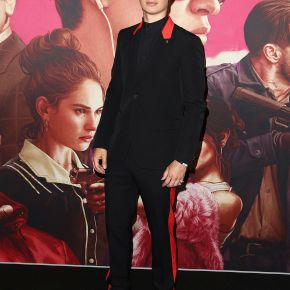 Ansel Elgort in Givenchy by Riccardo Tisci