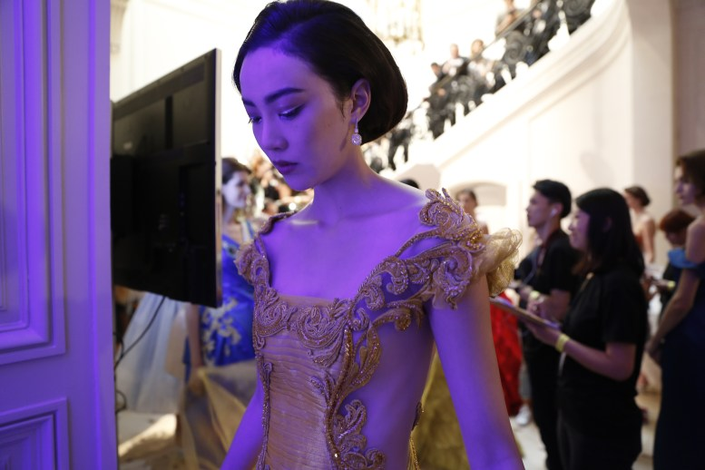 Guo Pei FW17-18 Couture- Backstage 86