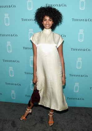 NEW YORK, NY - SEPTEMBER 06: Model Imaan Hammam attends the Tiffany & Co. Fragrance launch event on September 6, 2017 in New York City. (Photo by Jamie McCarthy/Getty Images for Tiffany & Co.)