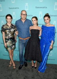NEW YORK, NY - SEPTEMBER 06: (L-R) Riley Keough, Reed Krakoff, Zoey Deutch, and Ana de Armas attend the Tiffany & Co. Fragrance launch event on September 6, 2017 in New York City. (Photo by Jamie McCarthy/Getty Images for Tiffany & Co.)
