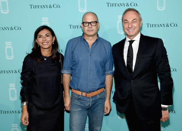 NEW YORK, NY - SEPTEMBER 06: Simona Cattaneo, Reed Krakoff, and Edgar Huber attend the Tiffany & Co. Fragrance launch event on September 6, 2017 in New York City. (Photo by Jamie McCarthy/Getty Images for Tiffany & Co.)
