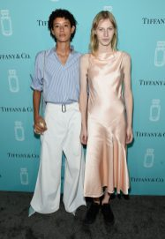 NEW YORK, NY - SEPTEMBER 06: Models Dilone and Julia Nobis attend the Tiffany & Co. Fragrance launch event on September 6, 2017 in New York City. (Photo by Jamie McCarthy/Getty Images for Tiffany & Co.)