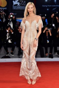 VENICE, ITALY - SEPTEMBER 04: Soo Joo Park walks the red carpet ahead of the 'Three Billboards Outside Ebbing, Missouri' screening during the 74th Venice Film Festival at Sala Grande on September 4, 2017 in Venice, Italy. (Photo by Pascal Le Segretain/Getty Images)