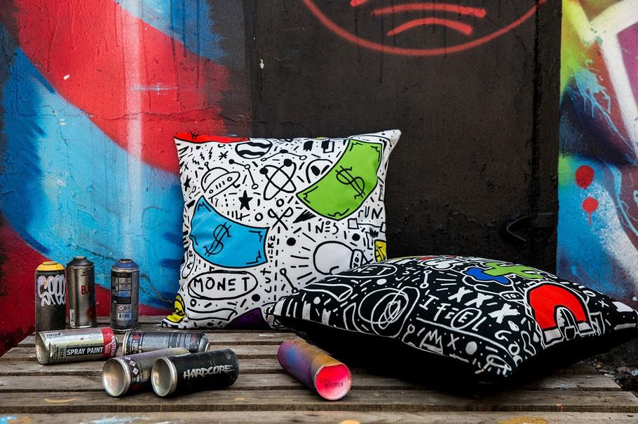 ARTPILO s'associe à Street Art Up pour une collection de coussins