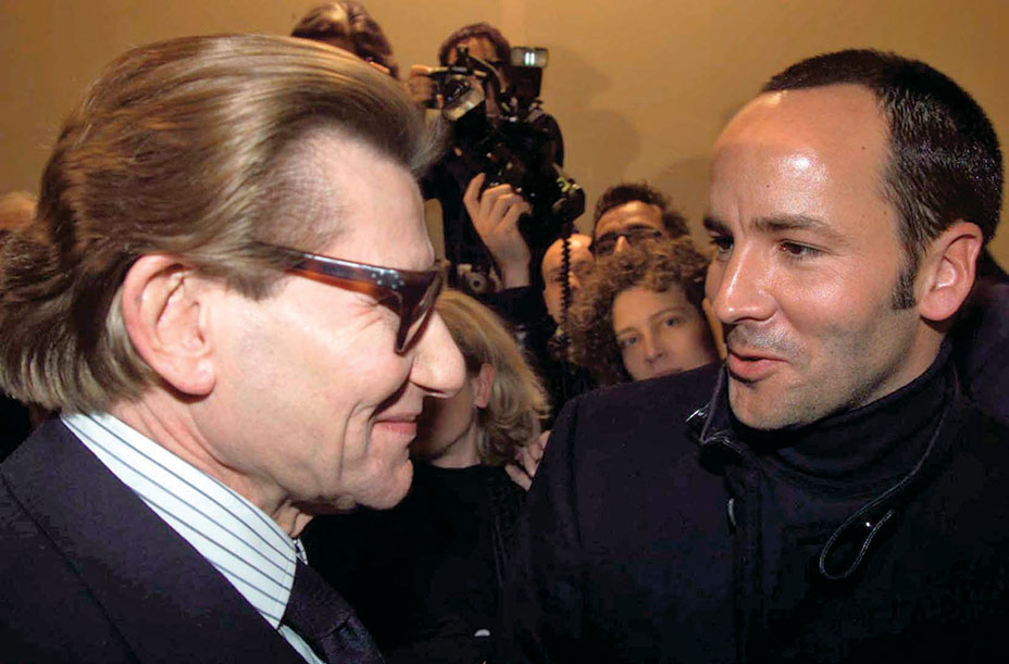 Yves Saint Laurent et Tom ford en 2000