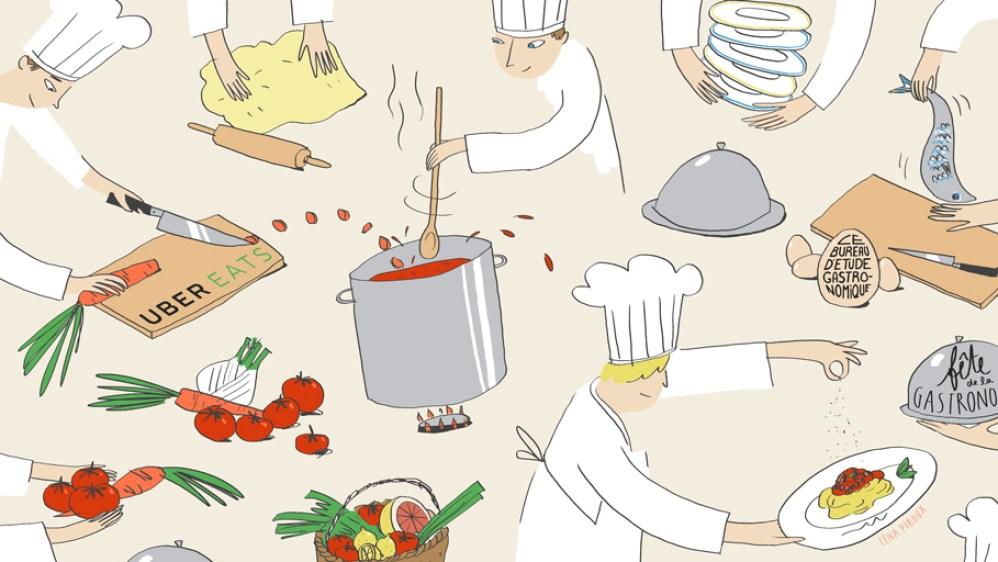 UberEATS créé l'événement lors de la Fête de la Gastronomie.