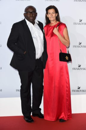 MILAN, ITALY - SEPTEMBER 20: Edward Enninful and Venetia Scott attend Swarovski Crystal Wonderland Party on September 20, 2017 in Milan, Italy. (Photo by Stefania M. D'Alessandro/Getty Images for Swarovski) *** Local Caption *** Venetia Scott; Edward Enninful