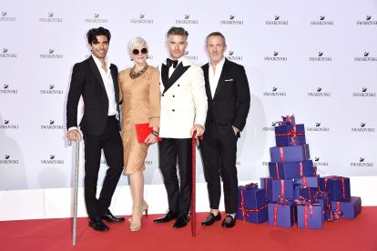 MILAN, ITALY - SEPTEMBER 20: Akin Akman, Maye Musk, Eric Rutherford and Trey Laird attends Swarovski Crystal Wonderland Party on September 20, 2017 in Milan, Italy. (Photo by Jacopo Raule/Getty Images for Swarovski) *** Local Caption *** Eric Rutherford; Maye Musk; Maye Musk; Trey Laird