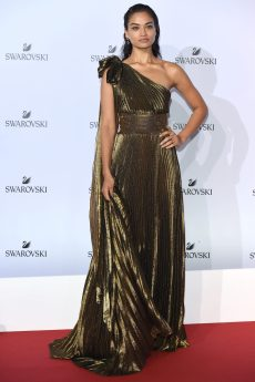 MILAN, ITALY - SEPTEMBER 20: Shanina Shaik attends Swarovski Crystal Wonderland Party on September 20, 2017 in Milan, Italy. (Photo by Stefania M. D'Alessandro/Getty Images for Swarovski) *** Local Caption *** Shanina Shaik