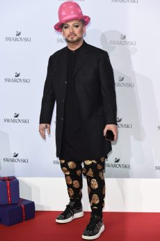 MILAN, ITALY - SEPTEMBER 20: Boy George attends Swarovski Crystal Wonderland Party on September 20, 2017 in Milan, Italy. (Photo by Stefania M. D'Alessandro/Getty Images for Swarovski) *** Local Caption *** Boy George