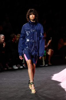 NEW YORK, NY - SEPTEMBER 10: Mica Arganaraz walks the runway wearing Look 1 at the FENTY PUMA by Rihanna Spring/Summer 2018 Collection at Park Avenue Armory on September 10, 2017 in New York City. (Photo by Brian Ach/Getty Images for FENTY PUMA By Rihanna)