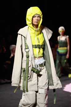 NEW YORK, NY - SEPTEMBER 10: Marjan Jonkman walks the runway wearing Look 41 at the FENTY PUMA by Rihanna Spring/Summer 2018 Collection at Park Avenue Armory on September 10, 2017 in New York City. (Photo by Brian Ach/Getty Images for FENTY PUMA By Rihanna)