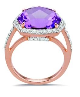 Gringoire Joaillier - ROSE - Bague Amethyste rose de France et diamants - face - BC2318AM-BTSBC2321AM-BTS