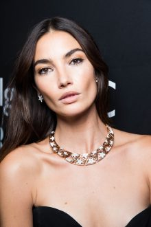 Lily ALDRIDGE.. Bulgari 5th avenue Opening. Met Cloisters. NYC. U.S.A. 10/2017 © david atlan