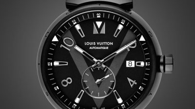 Tambour All Black par Louis Vuitton