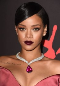 BEVERLY HILLS, CA - DECEMBER 11: Rihanna arrives at the Rihanna's First Annual Diamond Ball at The Vineyard on December 11, 2014 in Beverly Hills, California. (Photo by Steve Granitz/WireImage)