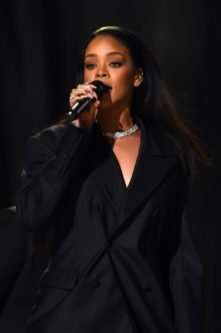 LOS ANGELES, CA - FEBRUARY 08: Rihanna performs onstage at The 57th Annual GRAMMY Awards at the STAPLES Center on February 8, 2015 in Los Angeles, California. (Photo by Larry Busacca/Getty Images for NARAS)