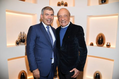 PARIS, FRANCE - NOVEMBER 23: Patrick Chalhoub and Jacques Seguela attend Christofle Saint-Honore Boutique Opening on November 23, 2017 in Paris, France. (Photo by Pascal Le Segretain/Getty Images for Christofle) *** Local Caption *** Patrick Chalhoub;Jacques Seguela